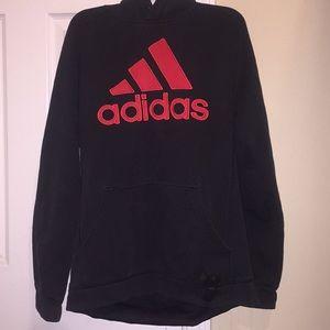 Adidas black&red sweat shirt